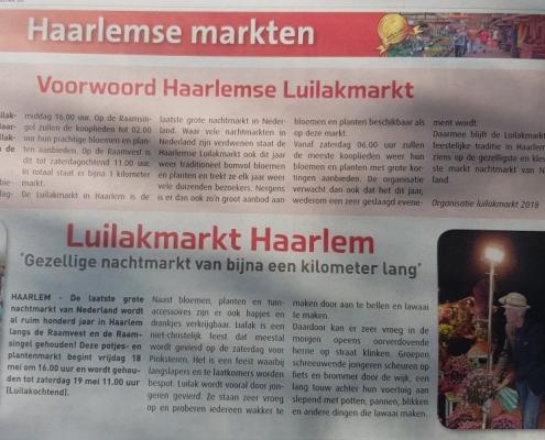 Luilak markt Haarlem